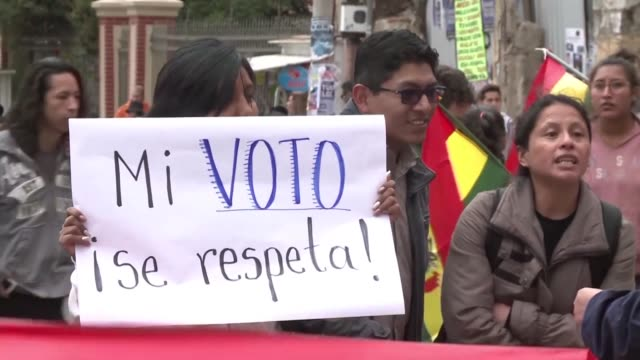 Bolivians took to the streets of La Paz Wednesday to protest Evo Morales bid to run for a fourth term in 2019 on the anniversary of a referendum that...