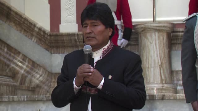 bolivia's constitutional court tuesday authorised leftist president evo morales to run for a fourth term in 2019 despite the south american nation... - evo morales stock videos & royalty-free footage