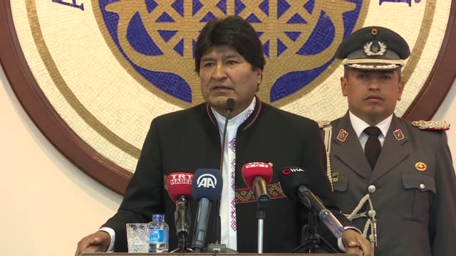 "bolivia's ruling party is the result of various native social movements coming together, said the nation's president on monday. ""it's time to defend... - evo morales stock videos & royalty-free footage"