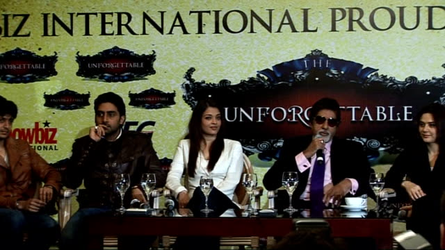 Bollywood 'Unforgettable Tour' Photocall and press conference Amitabh Bachchan talks about how much fun they are having spending time together as...
