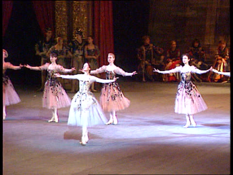 visit to london int russia moscow tls ballet in progress slowmo - russian ballet stock videos and b-roll footage