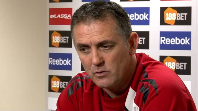 bolton manager owen coyle thanks tottenham for their behaviour over fabrice muamba situation england greater manchester bolton reebok stadium int... - bolton greater manchester stock videos and b-roll footage