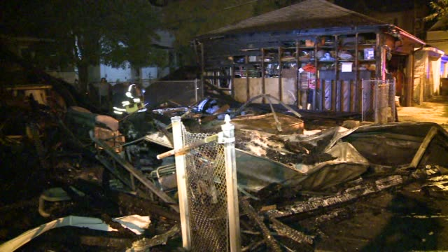 Bomb and Arson Units are investigating a series of fires that damaged six garages and the contents inside on August 08 2012 in Chicago Illinois