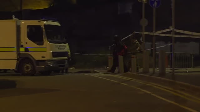 bomb disposal teams near the scene of the manchester arena bombing - bomb stock videos & royalty-free footage