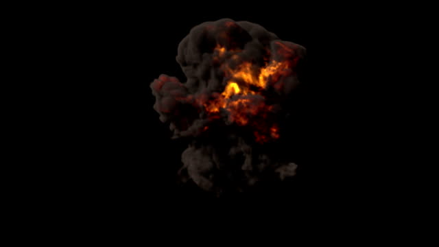 bomb explosion with alpha matte - atomic bomb stock videos & royalty-free footage