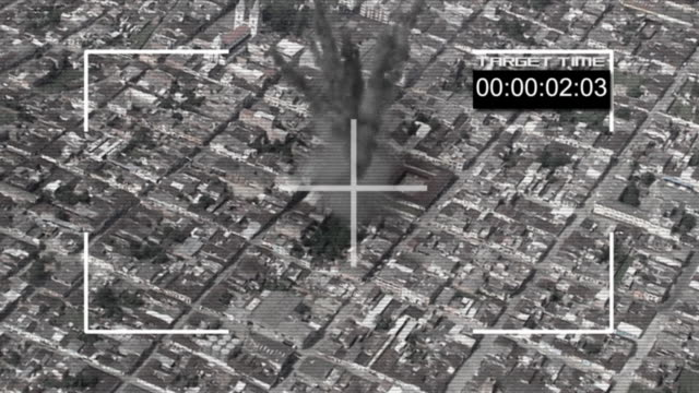 stockvideo's en b-roll-footage met bomb hit the ground hd720 - terrorisme