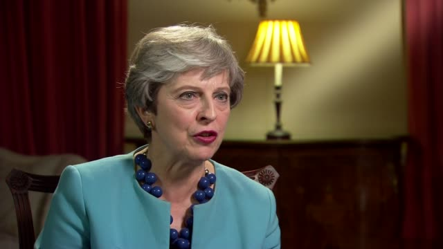 Theresa May interview ENGLAND London INT Theresa May MP interview SOT disappointed by this news / uncertainty / hugely important to Northern Ireland...