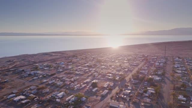 bombay beach, california - faglia di sant'andrea video stock e b–roll