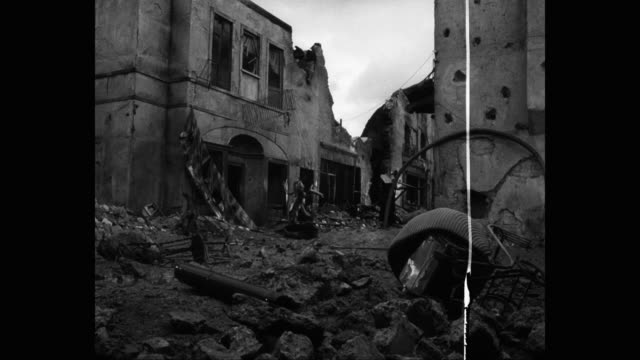 bombed out, war torn town street - reenactment stock videos & royalty-free footage