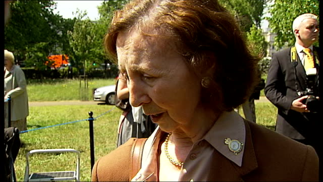 bomber command memorial ceremony held in london london eileen richards interview sot they were always very quiet when they were driven out / when we... - bomber plane stock videos and b-roll footage