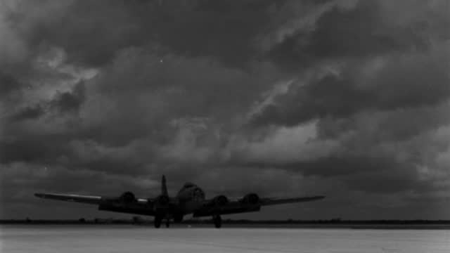 a wwii bomber lands at march field in california. - 1943 stock videos & royalty-free footage