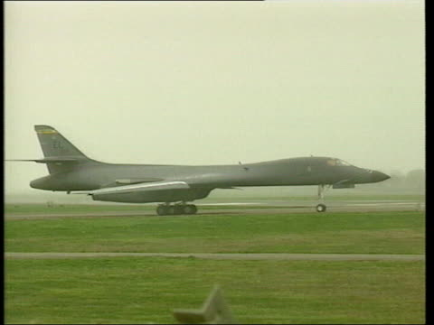 b1 bomber taxiing b1 bombers ground crew around bomber - french overseas territory stock videos & royalty-free footage