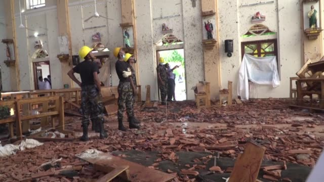 bombers targeted three churches and three luxury hotels in sri lanka last easter sunday, killing at least 279 people and wounding 593 on april 21 2019 - last stock videos & royalty-free footage