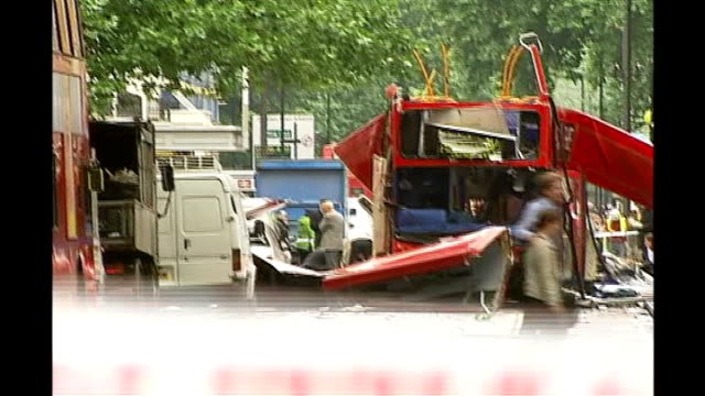 4 arrested including widow of ringleader tx london emergency services at scenes of suicide attacks - widow stock videos & royalty-free footage