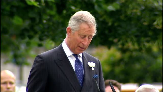 service to unveil hyde park memorial prince charles speech continued sot do have some small awareness of the shattering loss you have all suffered/... - religious service stock videos & royalty-free footage