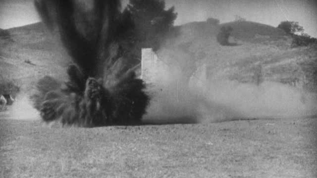 bombs explode on a world war i german firing party. - 1927 stock videos & royalty-free footage