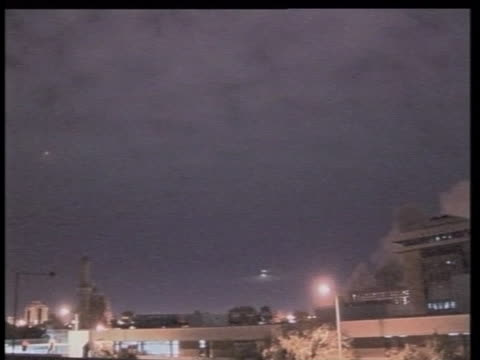 bombs explode over baghdad, iraq - baghdad stock videos & royalty-free footage