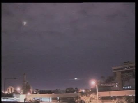 bombs explode over iraq. - iraq video stock e b–roll