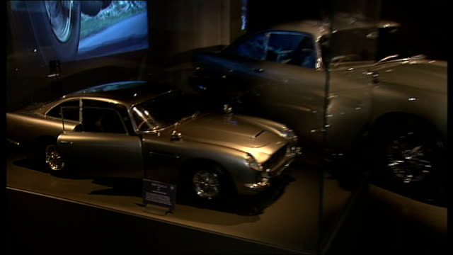 'Bond in Motion' exhibition Vehicles on display and interviews Wilson and Broccoli interview SOT / Bond car from 'Skyfall' film on display / Bond...