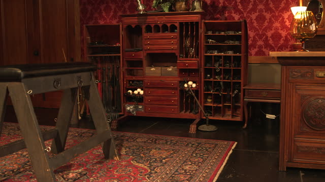bondage closet and bench in bedroom, wide shot pan - fetish wear stock videos and b-roll footage