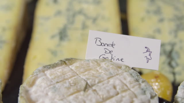 ecu r/f bonde de gatine to bleu de gex cheeses - bonde stock videos and b-roll footage