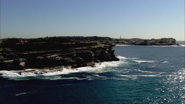 WS AERIAL Bondi Beach and cliffs, Sydney, New South Wales, Australia
