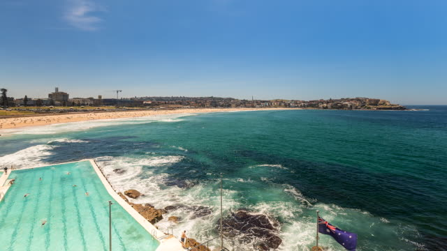 Bondi Beach with the swimming pool, Sydney