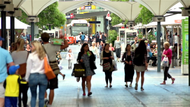 bondi junction shopping street - sydney stock videos & royalty-free footage