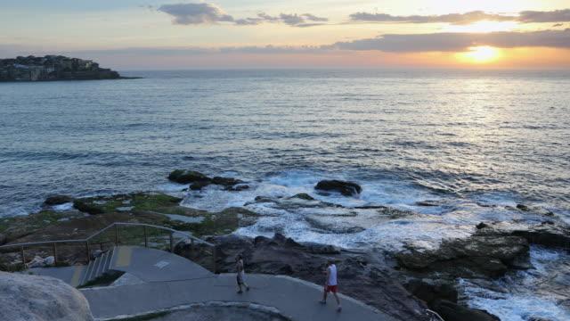 Bondi to Bronte walk along coast, Sydney, New South Wales, Australia, Pacific