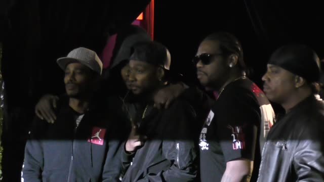 bone thugs-n-harmony at premiere of usa network's 'unsolved: the murders of tupac and the notorious b.i.g.' in celebrity sightings in los angeles, - bone thugs n harmony stock videos & royalty-free footage