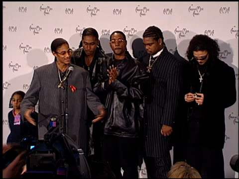 bone thugs-n-harmony at the american music awards 1998 at the shrine auditorium in los angeles, california on january 26, 1998. - bone thugs n harmony stock videos & royalty-free footage