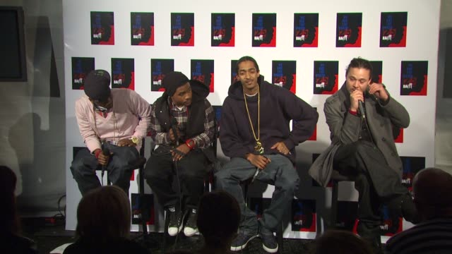 bone thugs-n-harmony on being a part of the we are the world 25th anniversary recording for haitian earthquake relief at the we are the world 25th... - bone thugs n harmony stock videos & royalty-free footage