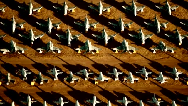 boneyard at davis-monthan air force base in arizona, where air force planes go after they've flown their last mission. - air force stock videos & royalty-free footage