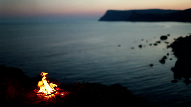 Bonfire near the sea