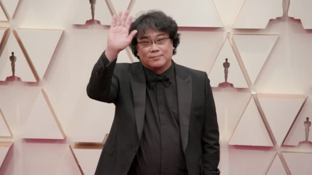 bong joon-ho at the 92nd annual academy awards at the dolby theatre on february 09, 2020 in hollywood, california. - academy of motion picture arts and sciences stock videos & royalty-free footage