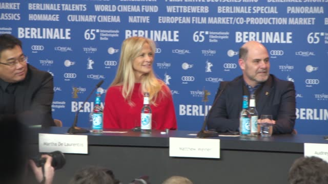 broll bong joonho martha de laurentiis matthew weiner audrey tautou darren aronofsky claudia llosa daniel bruhl at international jury press... - darren aronofsky stock videos and b-roll footage