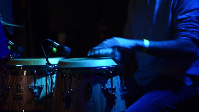 bongo player - jazz music stock videos & royalty-free footage