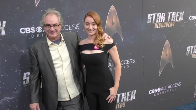 bonita friedericy john billingsley at the premiere of cbs's 'star trek discovery' on september 19 2017 in los angeles california - television show stock videos & royalty-free footage