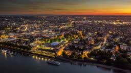 Bonn Cityscape - Aerial Hyperlapse