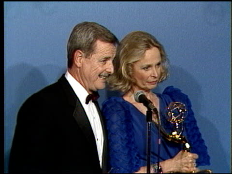 bonnie bartlett at the 1986 emmy awards at the pasadena civic auditorium in pasadena california on september 21 1986 - pasadena civic auditorium stock videos & royalty-free footage