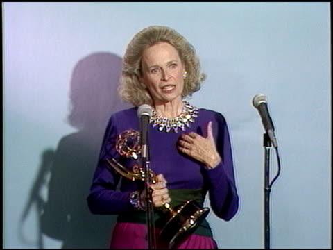 Bonnie Bartlett at the 1987 Emmy Awards Inside at the Pasadena Civic Auditorium in Pasadena California on September 20 1987