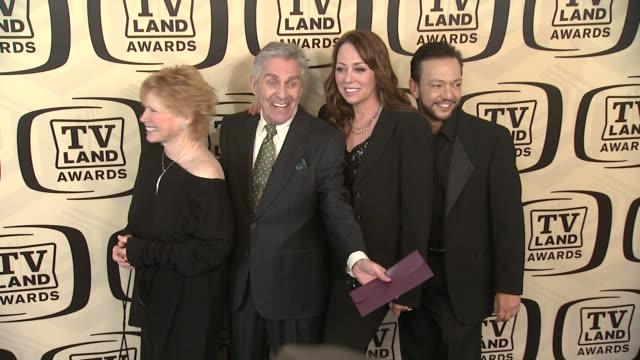 bonnie franklin pat harrington jr mackenzie phillips and glenn scarpelli at tv land awards 10th anniversary arrivals at lexington avenue armory on... - tv land awards stock videos and b-roll footage