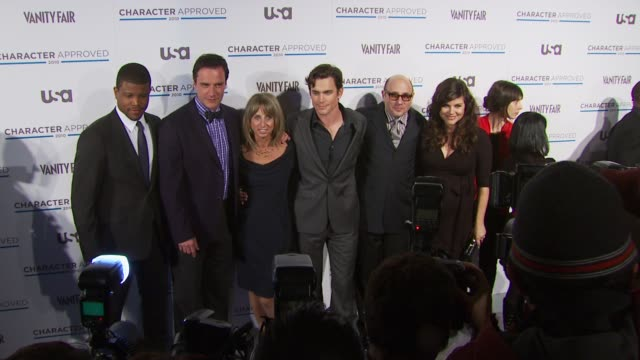 Bonnie Hammer Matt Bomer TiffaniAmber Thiessen and guests at the 2nd Annual Character Approved Awards Cocktail Reception at New York NY