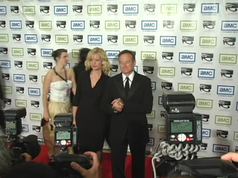 bonnie hunt and robin williams at the 19th annual american cinematheque award honoring steve martin at beverly hilton hotel in beverly hills,... - the beverly hilton hotel stock videos & royalty-free footage