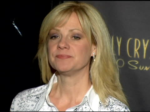 bonnie hunt at the los angeles opening night of the tony award winning broadway show billy crystal '700 sundays' at the wilshire theatre in beverly... - broadway show stock videos and b-roll footage