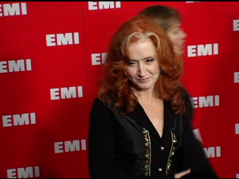 bonnie raitt at the emi post-grammy awards bash at the beverly hilton in beverly hills, california on february 13, 2005. - emi grammy party stock videos & royalty-free footage