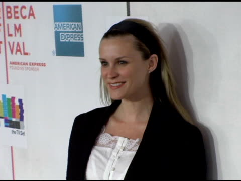 bonnie somerville at the 2006 tribeca film festival 'the tv set' premiere at tribeca performing arts center in new york new york on april 28 2006 - performing arts center stock videos & royalty-free footage