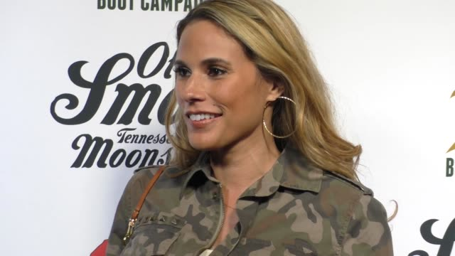 bonnie-jill laflin at the comedy boot jam at improv comedy club in west hollywood in celebrity sightings in los angeles, - スケッチコメディー点の映像素材/bロール