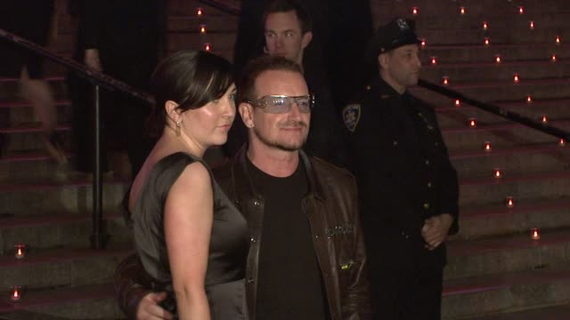 Bono and Ali Hewson at the 8th Annual Tribeca Film Festival Vanity Fair Party at New York NY