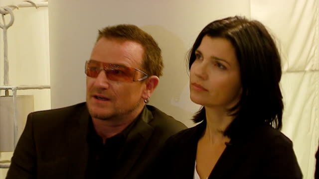 Bono and Ali Hewson at the Launch of New ONE TShirt by EDUN at Nordstroms @ The Grove in Los Angeles California on September 17 2006